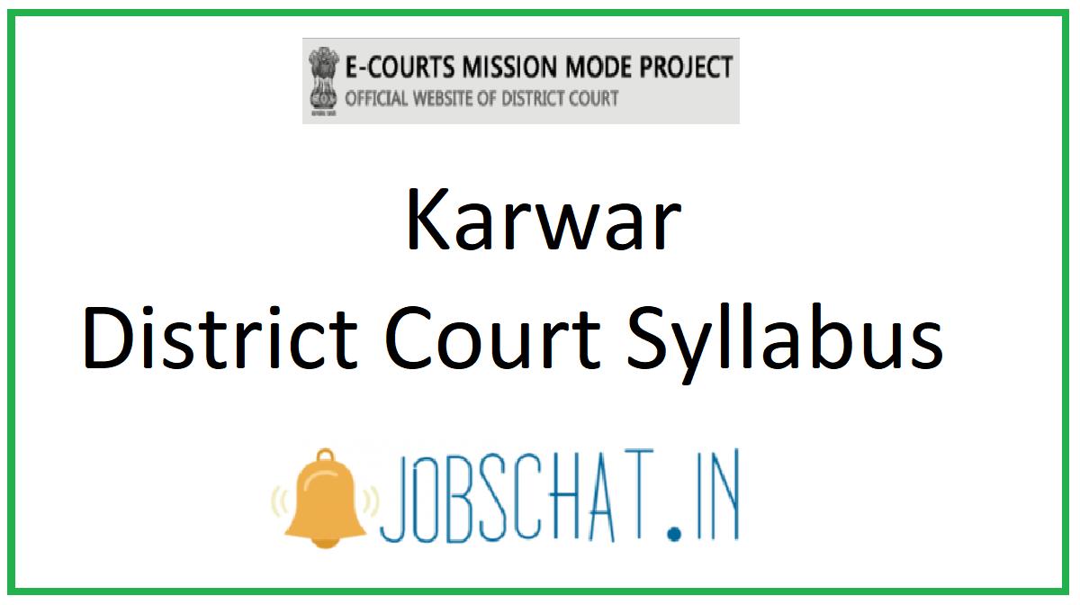 Karwar District Court Syllabus