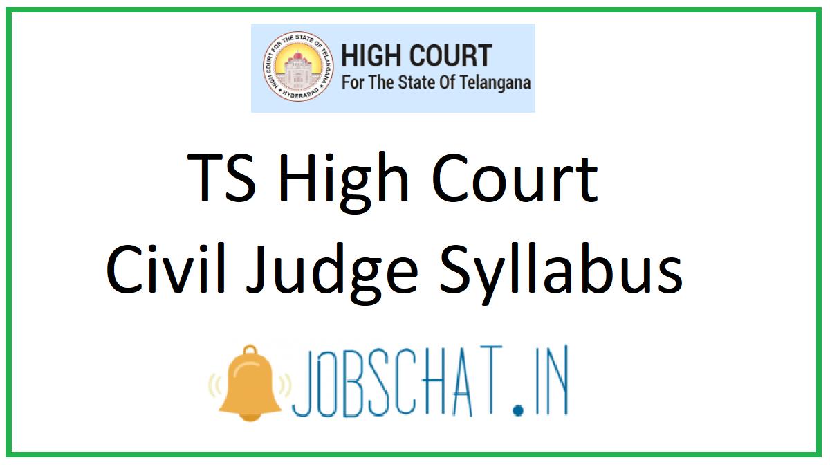 TS High Court Civil Judge Syllabus