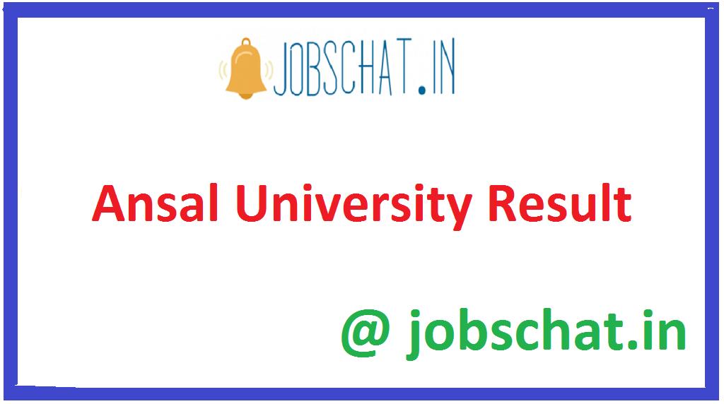 Ansal University Result