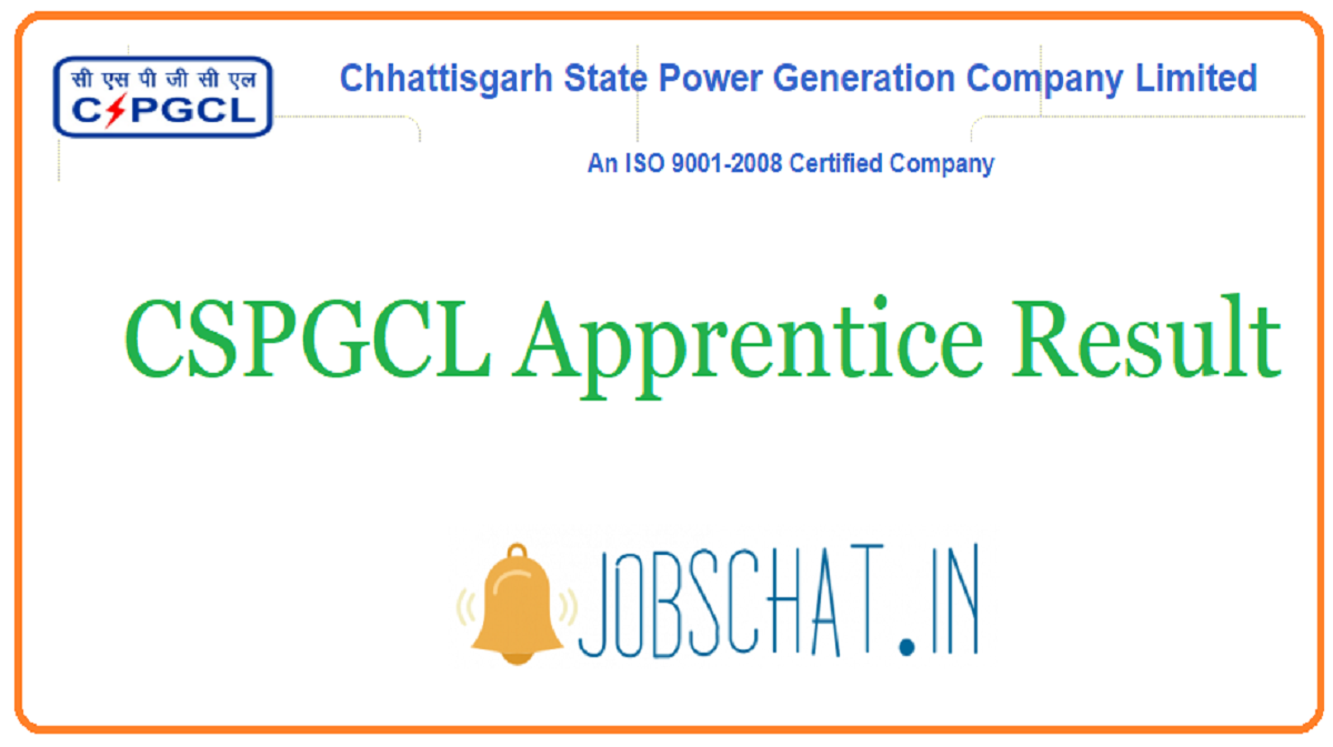 CSPGCL Apprentice Result