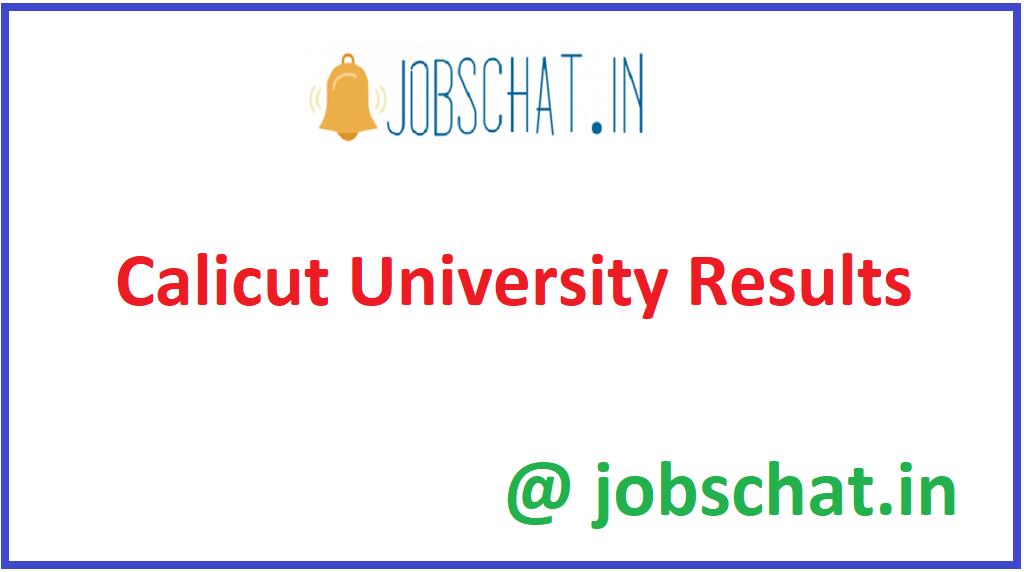 Calicut University Results