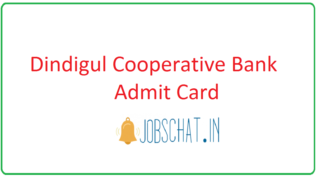 Dindigul Cooperative Bank Admit Card
