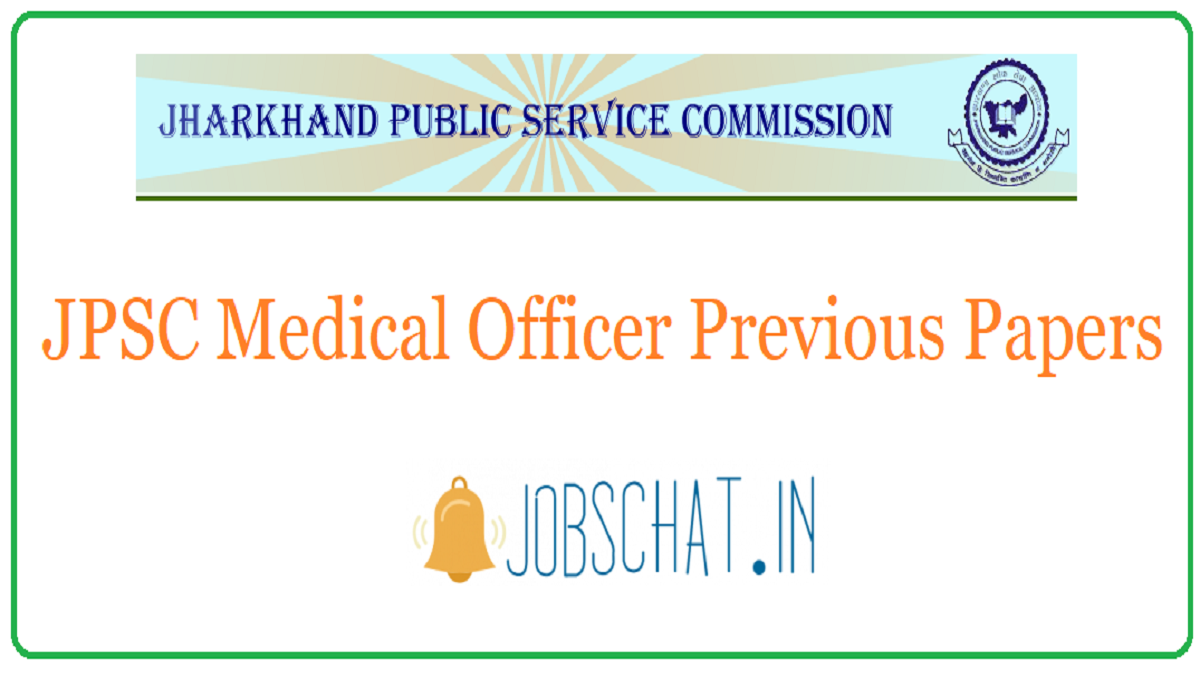JPSC Medical Officer Previous Papers
