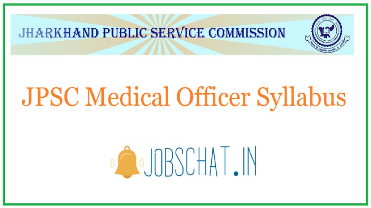 JPSC Medical Officer Syllabus