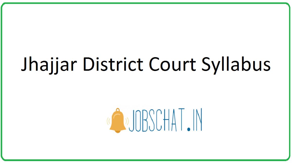 Jhajjar District Court Syllabus
