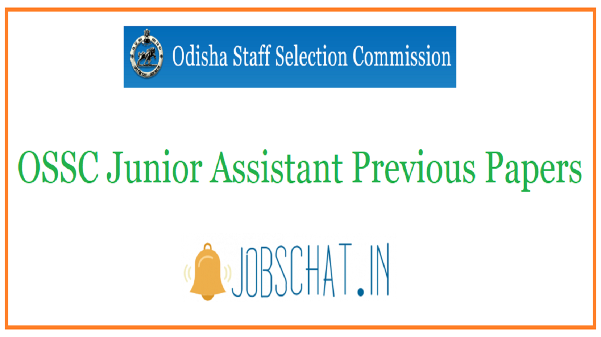 OSSC Junior Assistant Previous Papers