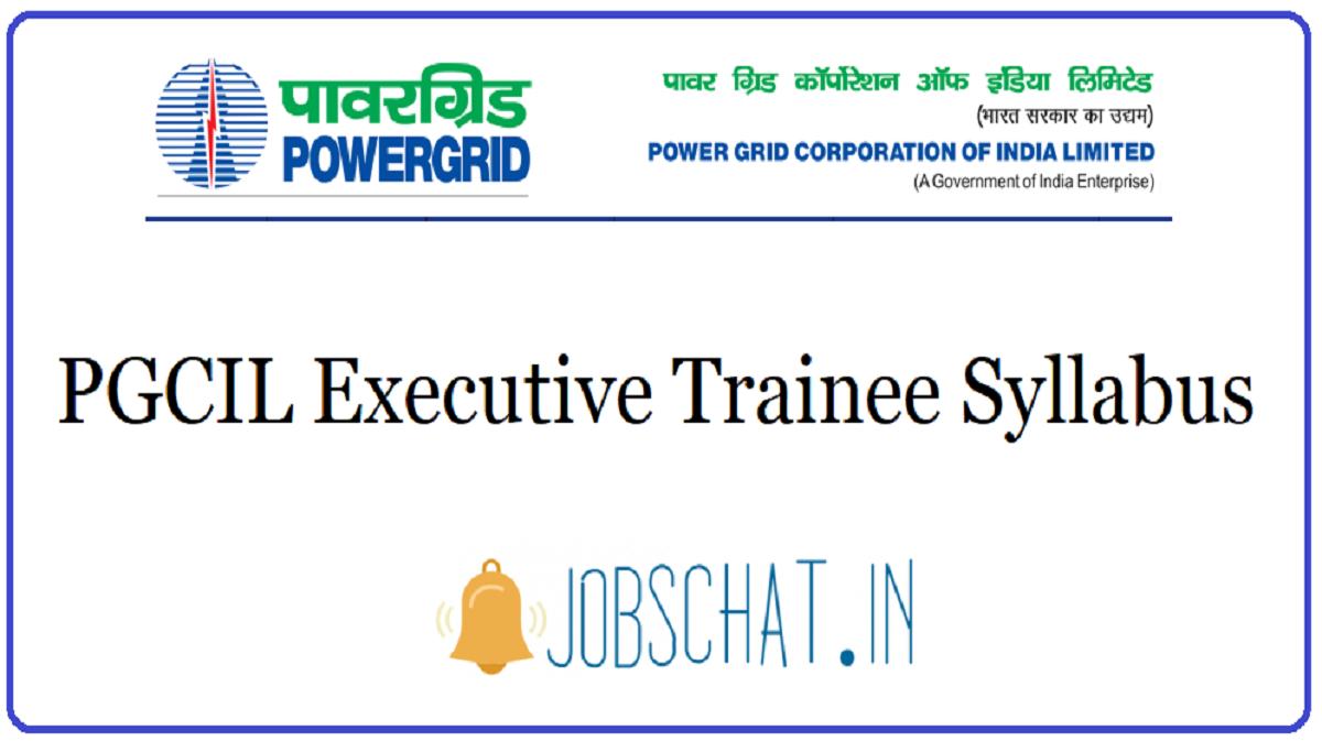 PGCIL Executive Trainee Syllabus