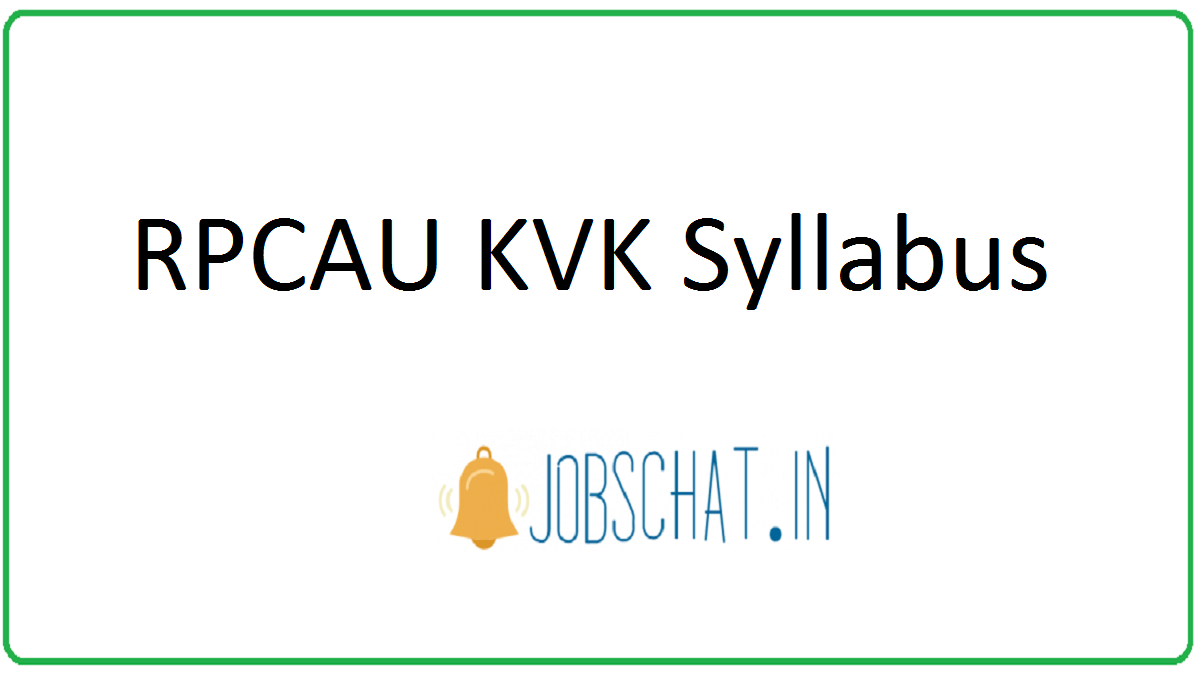 RPCAU KVK Syllabus