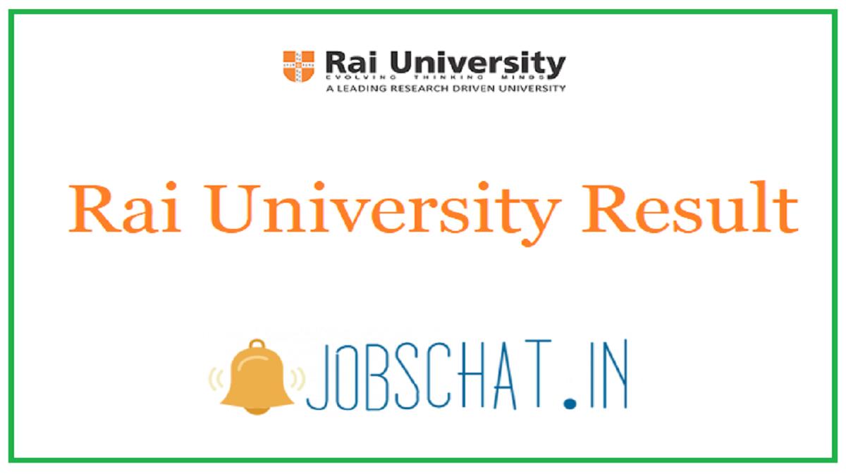 Rai University Result