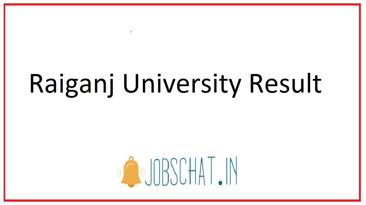 Raiganj University Result