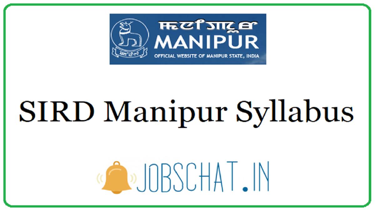 SIRD Manipur Syllabus