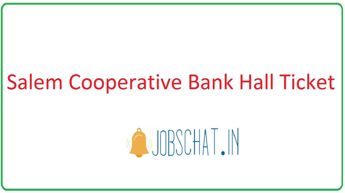 Salem Cooperative Bank Hall Ticket
