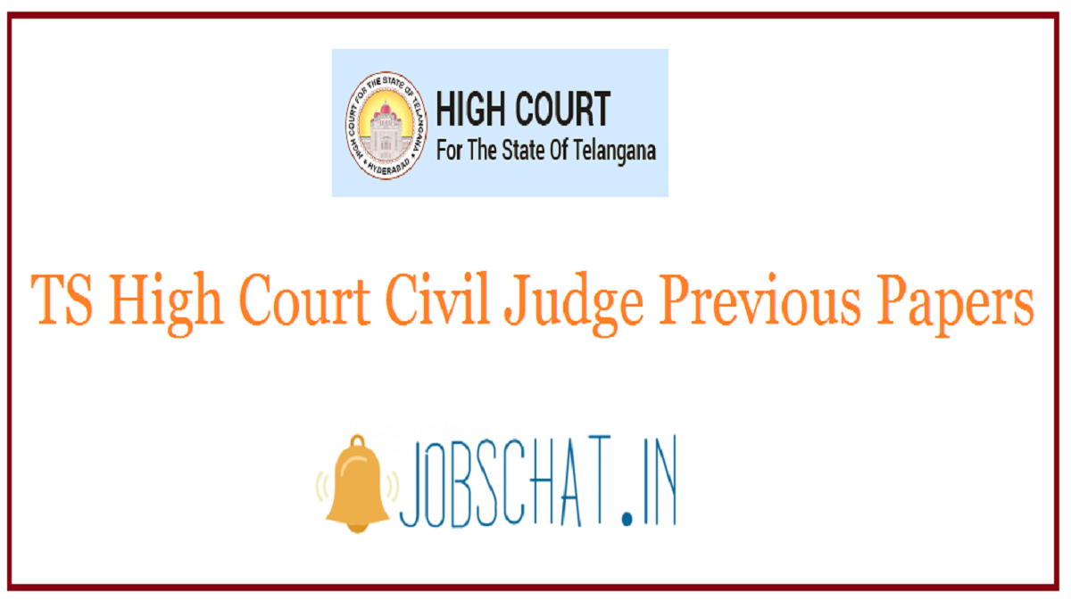 TS High Court Civil Judge Previous Papers