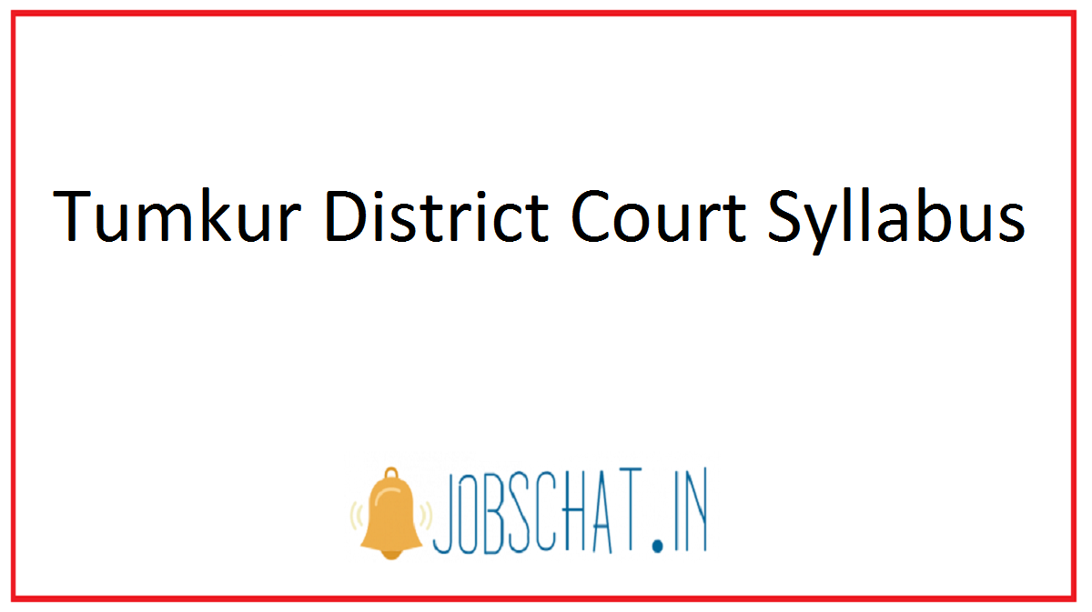 Tumkur District Court Syllabus
