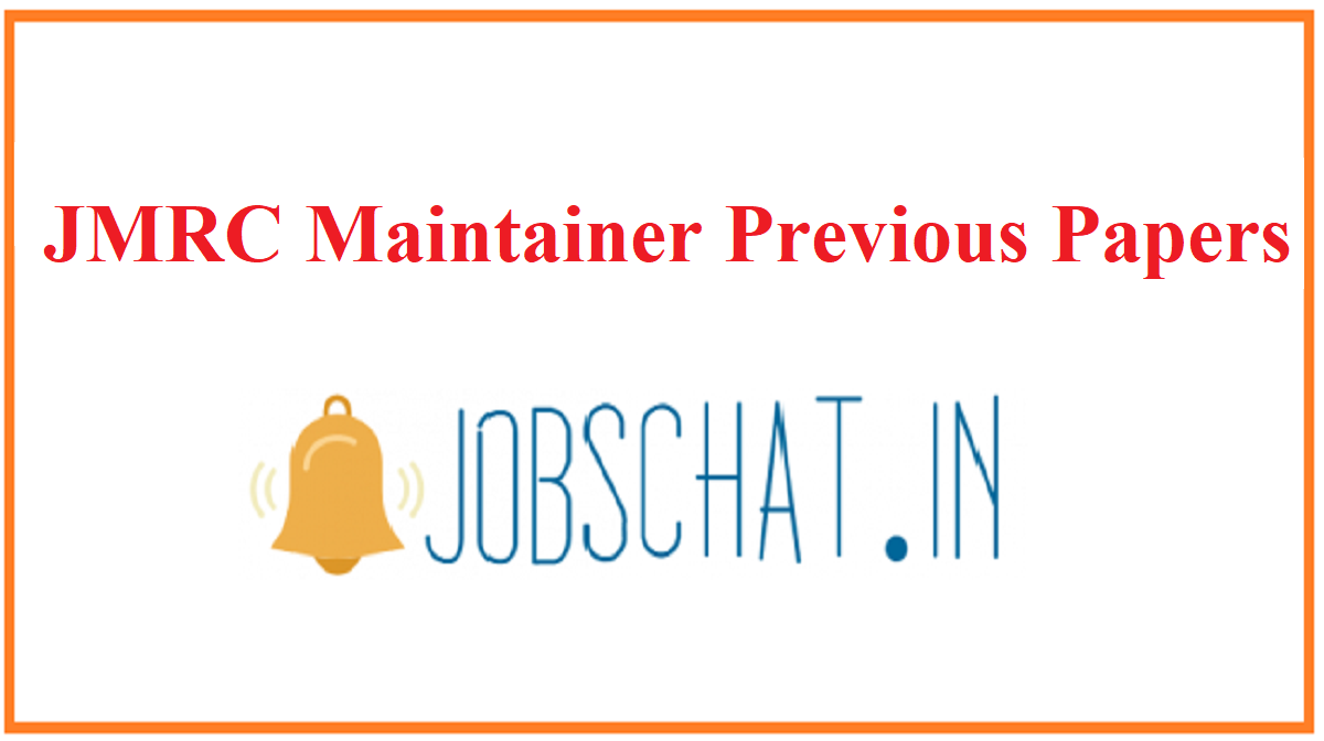 JMRC Maintainer Previous Papers