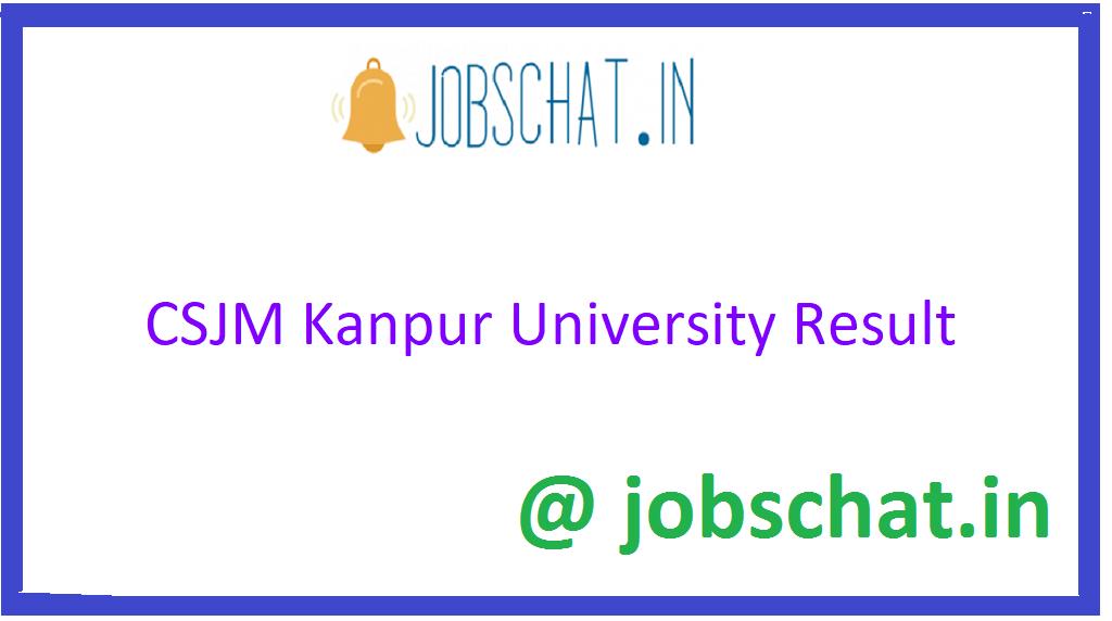 CSJM Kanpur University Result