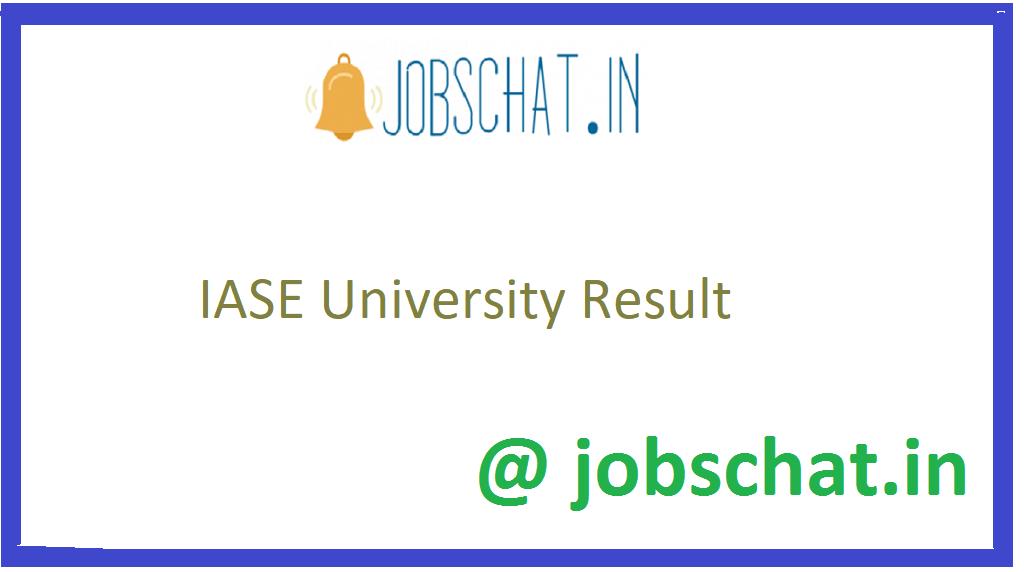 IASE University Result