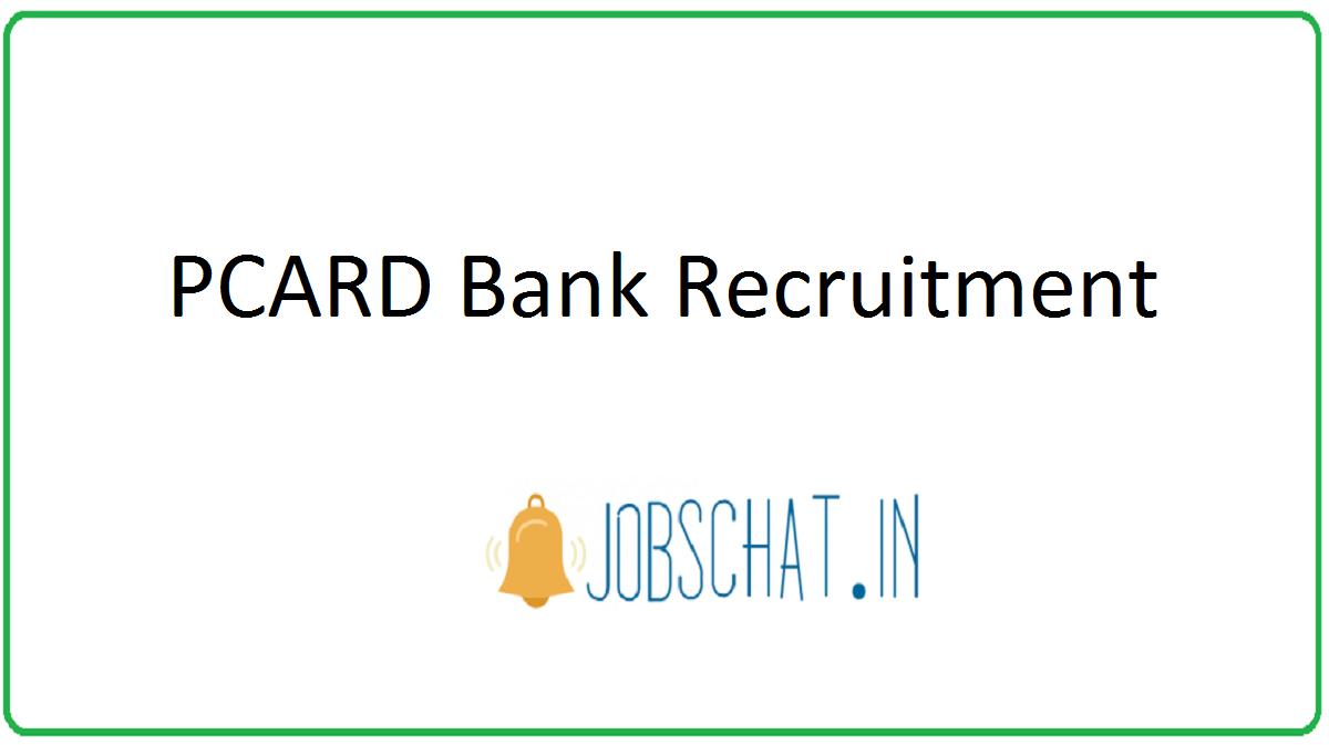 PCARD Bank Recruitment
