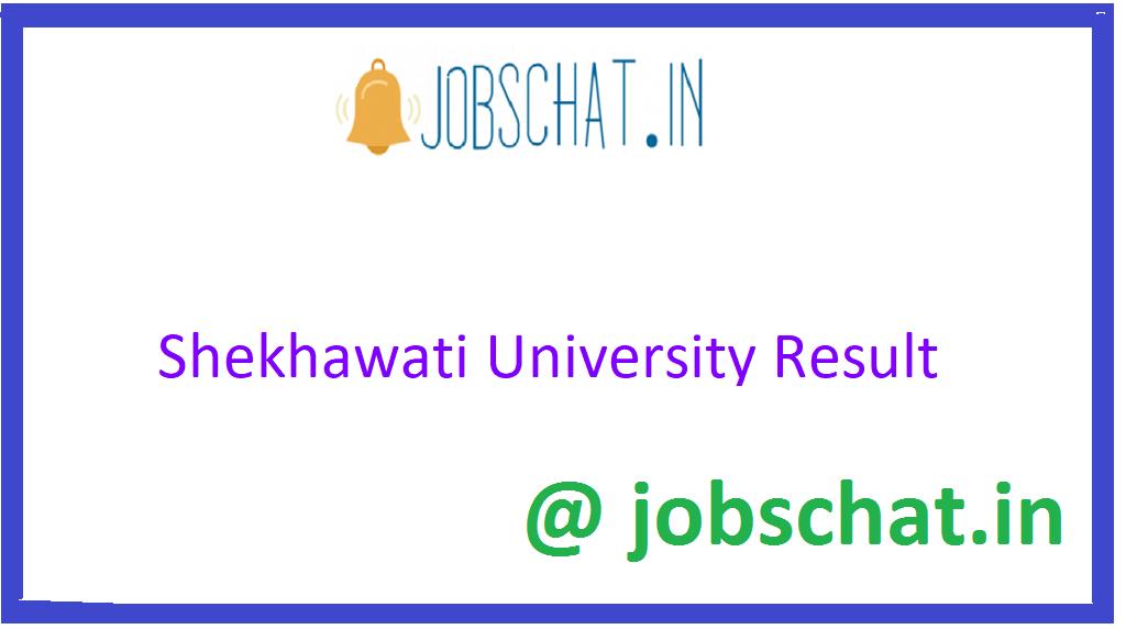 Sekhawati University Result