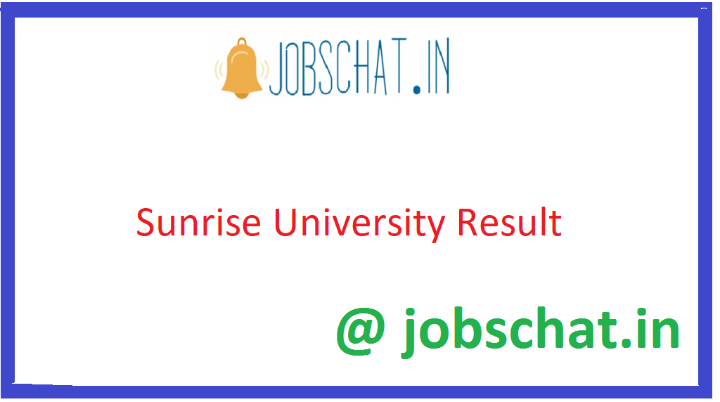 Sunrise University Result