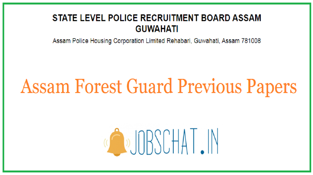 Assam Forest Guard Previous Papers