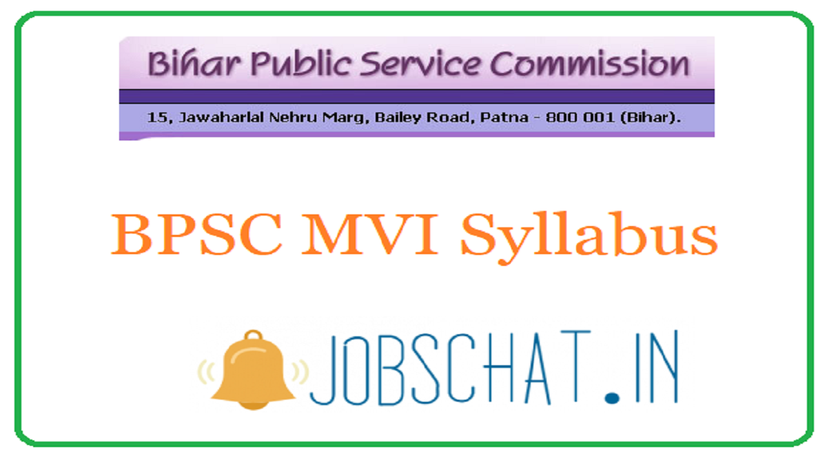 BPSC Motor Vehicle Inspector Syllabus