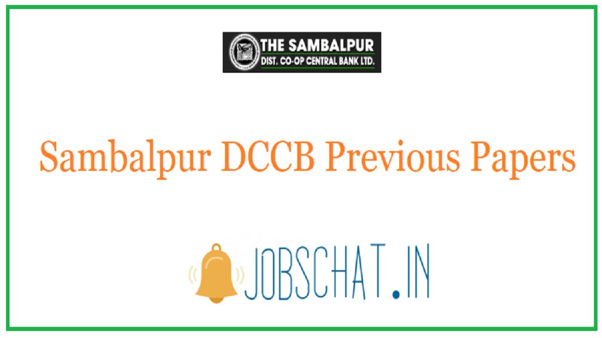 Sambalpur DCCB Previous Papers