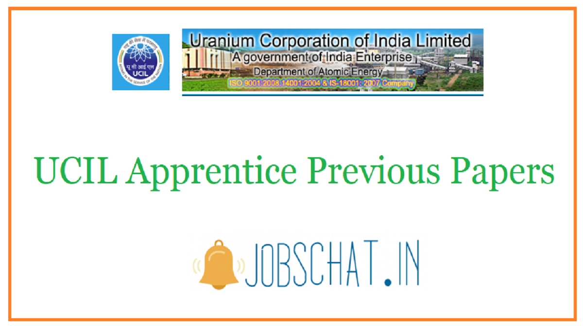 UCIL Apprentice Previous Papers