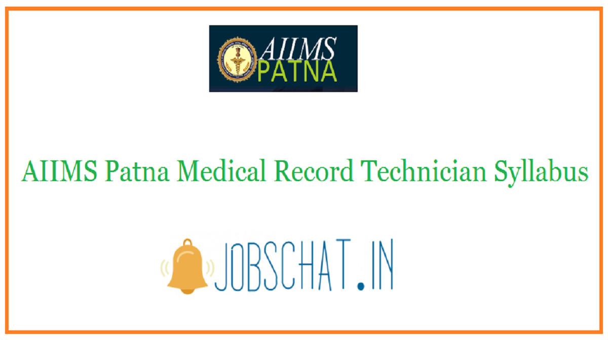 AIIMS Patna Medical Record Technician Syllabus