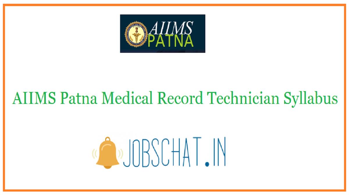 AIIMS Patna Medical Record Technician Syllabus