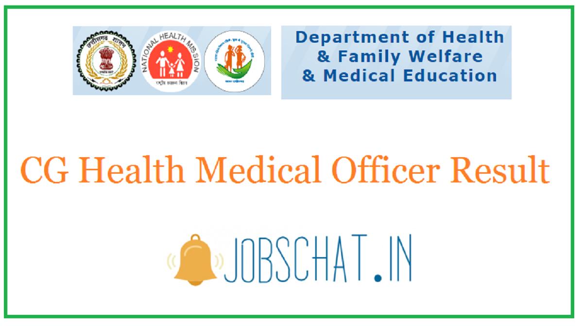 CG Health Medical Officer Result