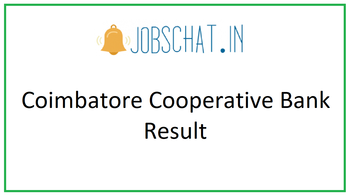 Coimbatore Cooperative Bank Result