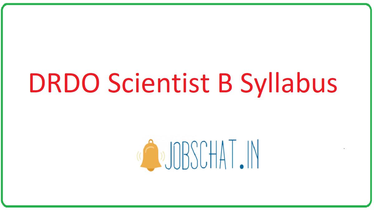 DRDO Scientist B Syllabus