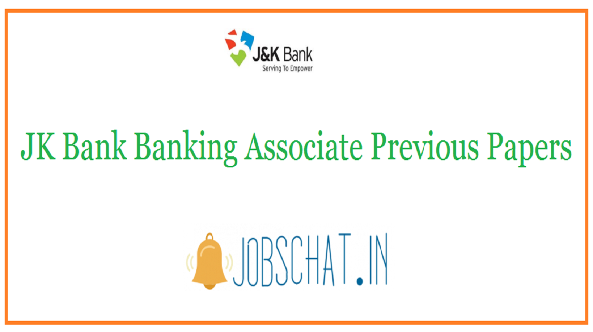 JK Bank Banking Associate Previous Papers
