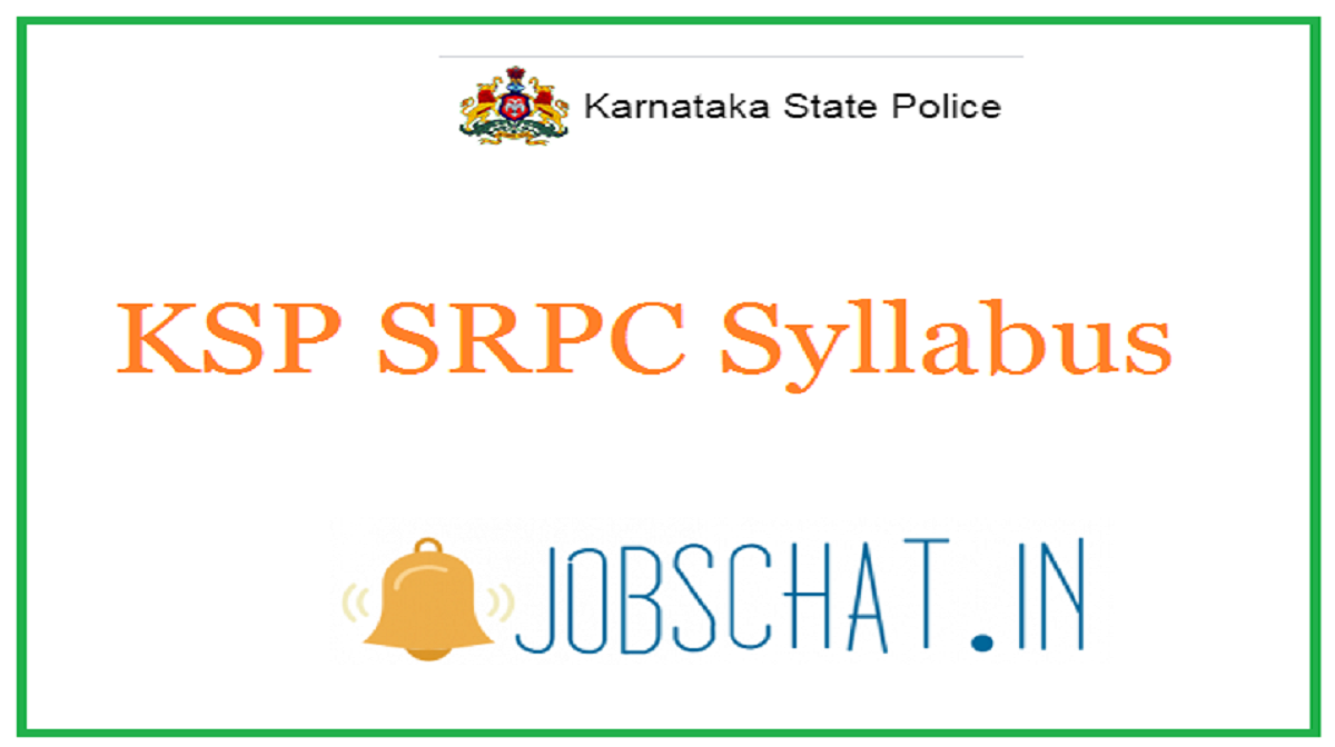 KSP SRPC Syllabus