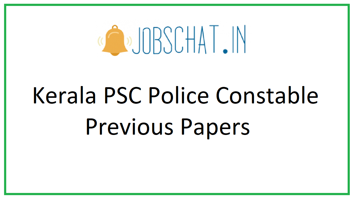 Kerala PSC Police Constable Previous Papers