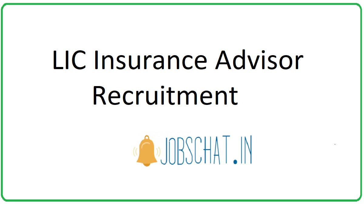 LIC Insurance Advisor Recruitment