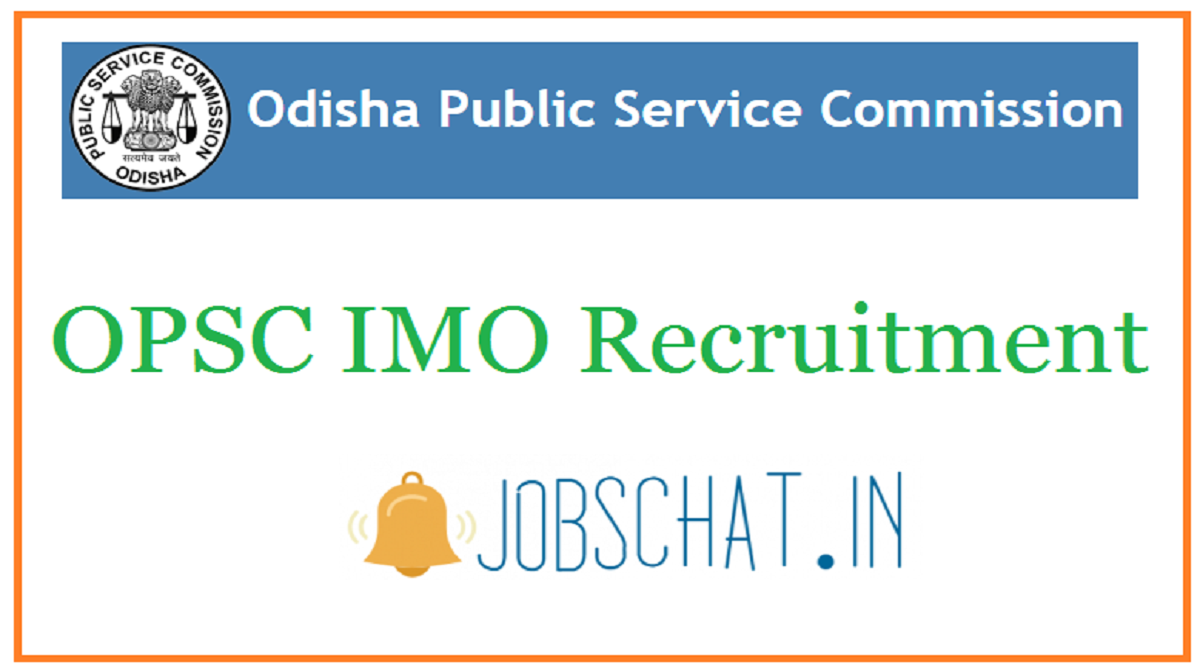 OPSC IMO Recruitment