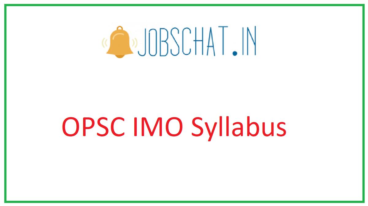 OPSC IMO Syllabus