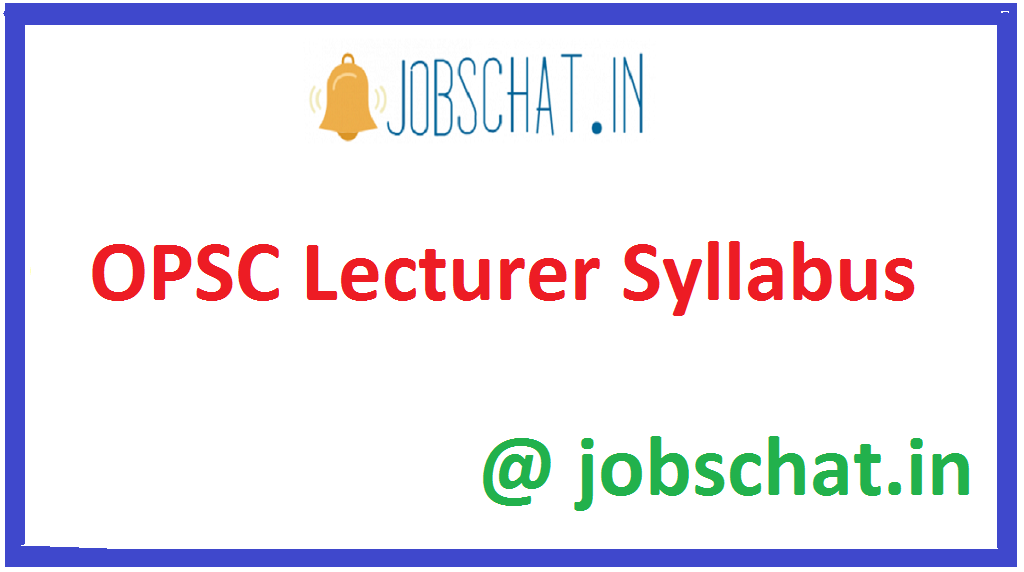 OPSC Lecturer Syllabus