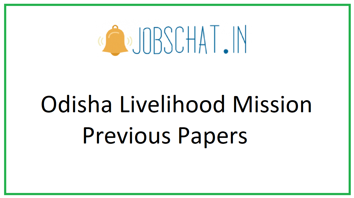 Odisha Livelihood Mission Previous Papers