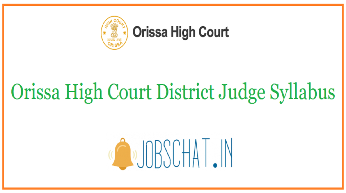 Orissa High Court District Judge Syllabus