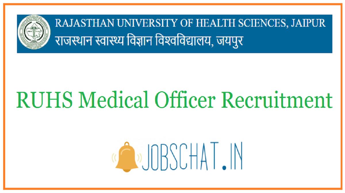 RUHS Medical Officer Recruitment