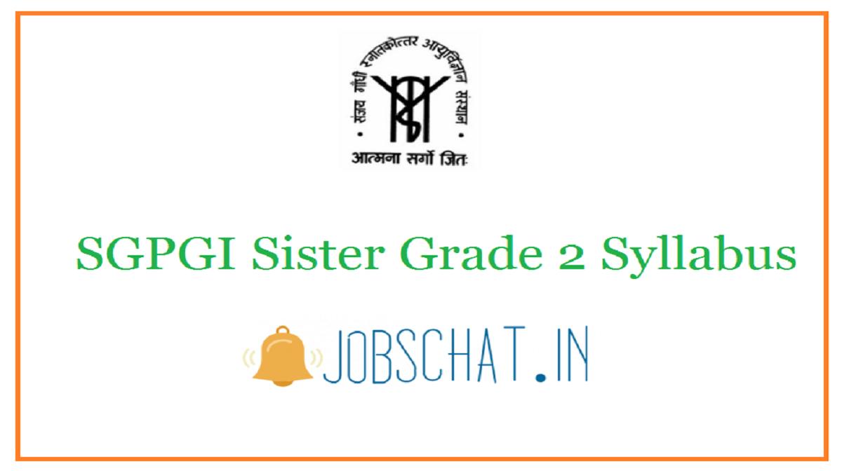 SGPGI Sister Grade 2 Syllabus