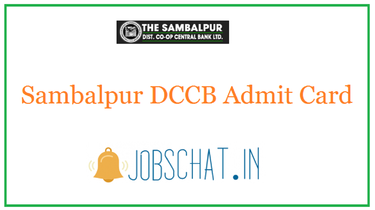 Sambalpur DCCB Admit Card