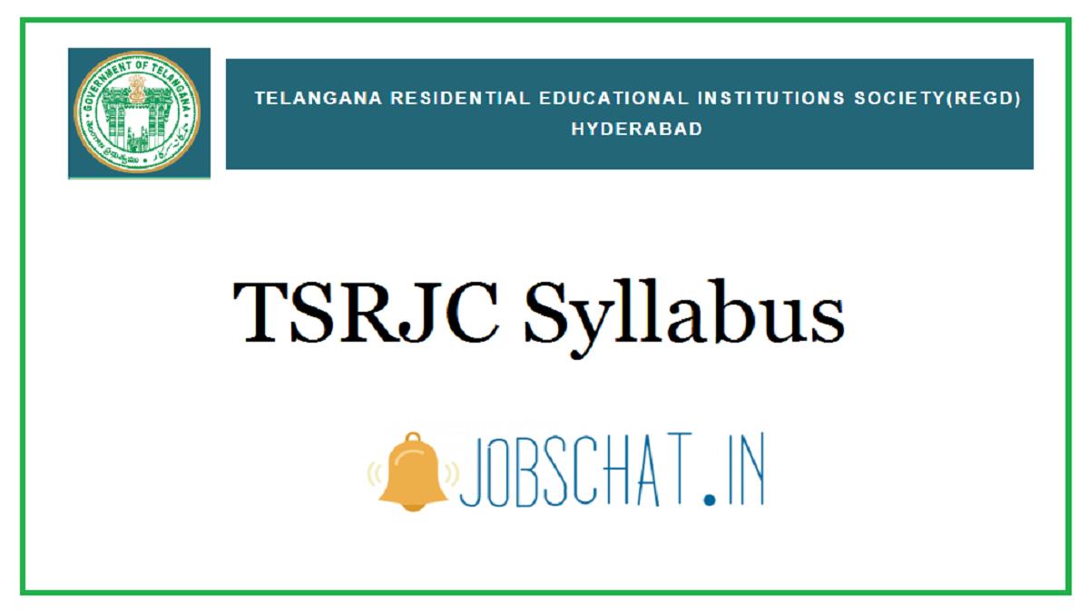 TSRJC Syllabus