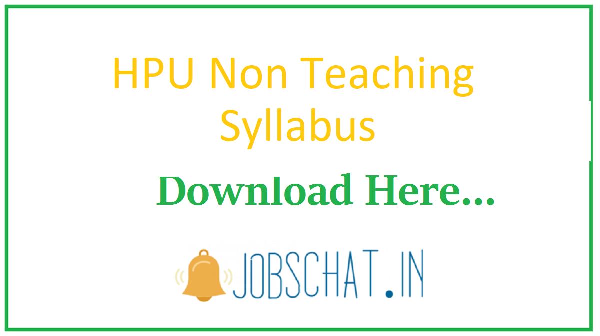 HPU Non Teaching Syllabus