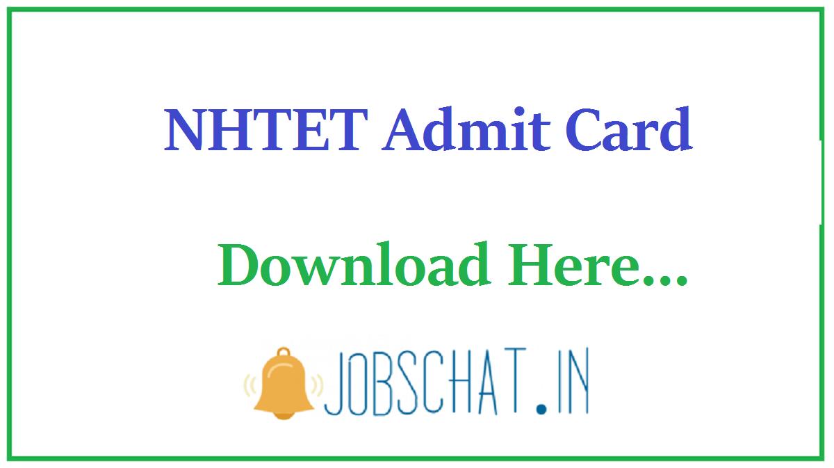 NHTET Admit Card