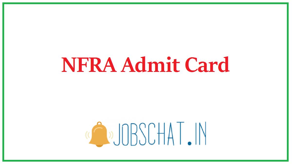 NFRA Admit Card