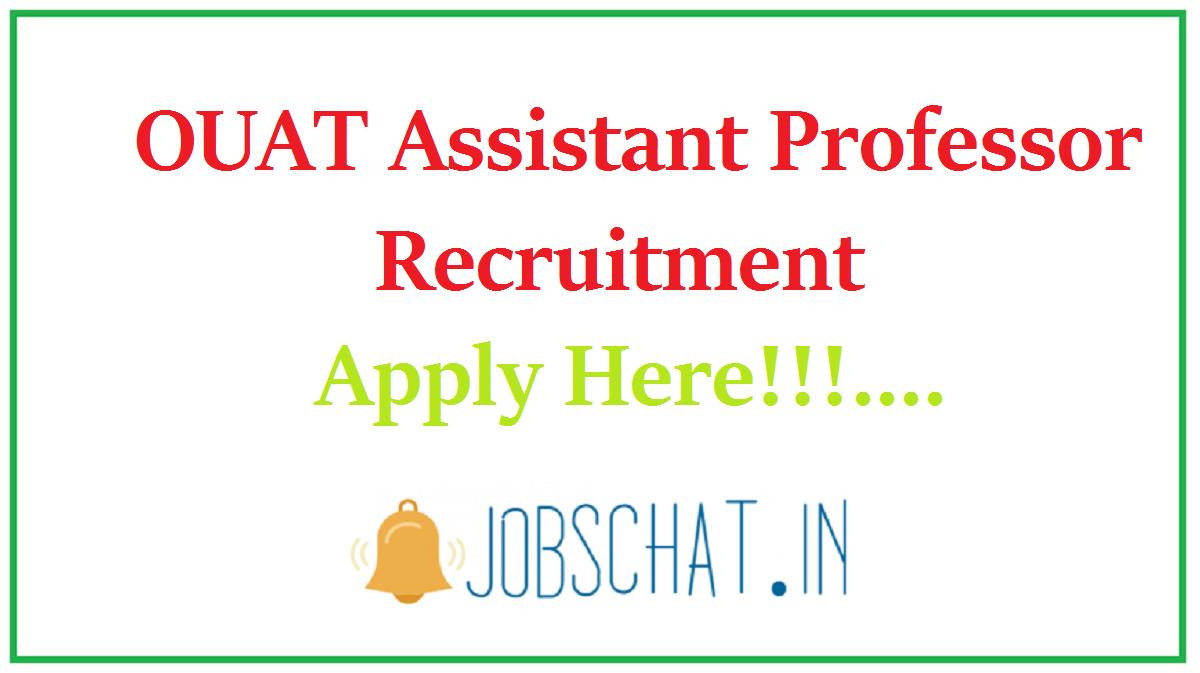 OUAT Assistant Professor Recruitment